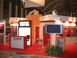 Avago Technologies - 3GSM 2007, Barcelona (Design a management: Exhibits Network Europe)